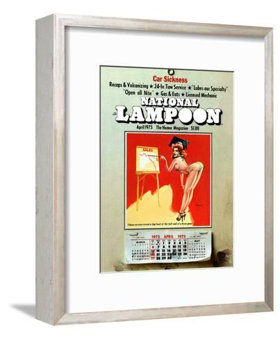 National Lampoon, April 1975 - Car Sickness, the Pin-Up Calendar--Framed Art Print