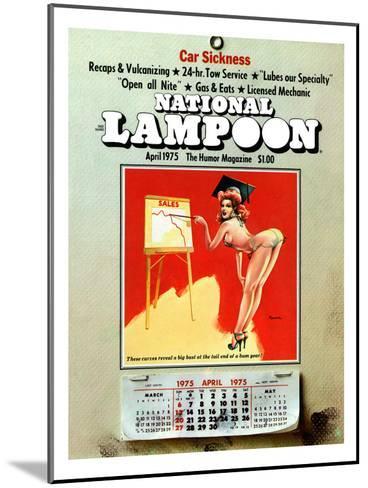National Lampoon, April 1975 - Car Sickness, the Pin-Up Calendar--Mounted Art Print