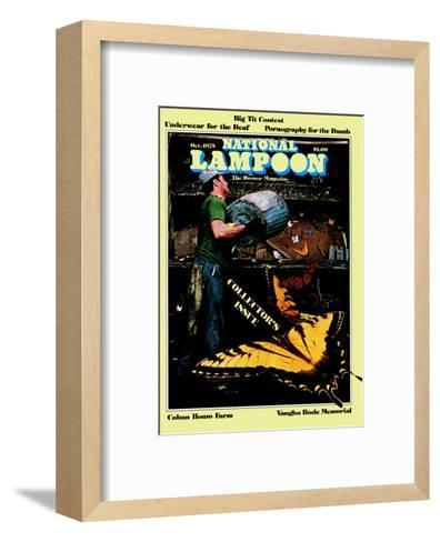 National Lampoon, October 1975 - Collector's Issue, Butterflies in Trash--Framed Art Print