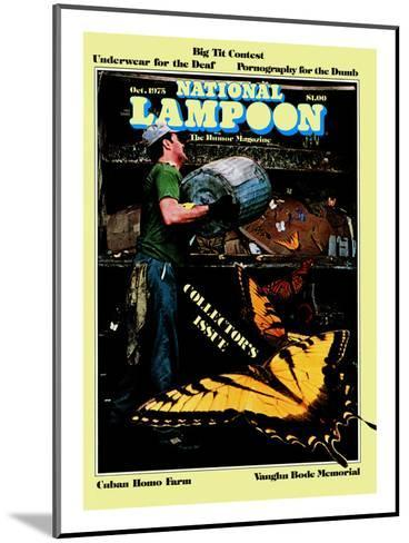 National Lampoon, October 1975 - Collector's Issue, Butterflies in Trash--Mounted Art Print