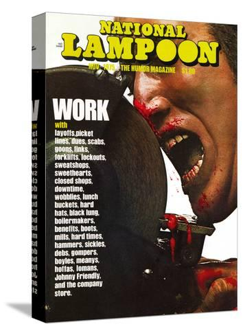 National Lampoon, November 1975 - Work--Stretched Canvas Print