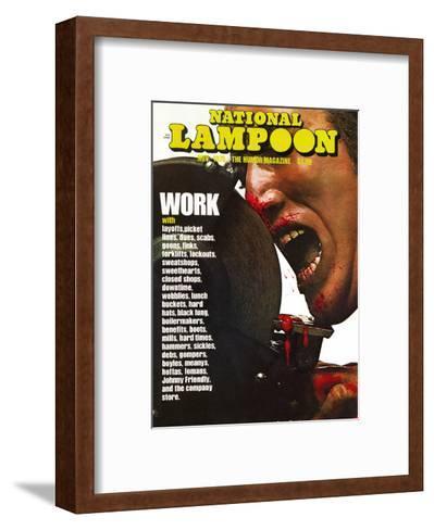 National Lampoon, November 1975 - Work--Framed Art Print