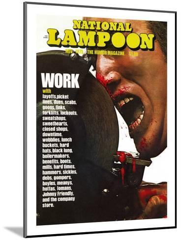 National Lampoon, November 1975 - Work--Mounted Art Print