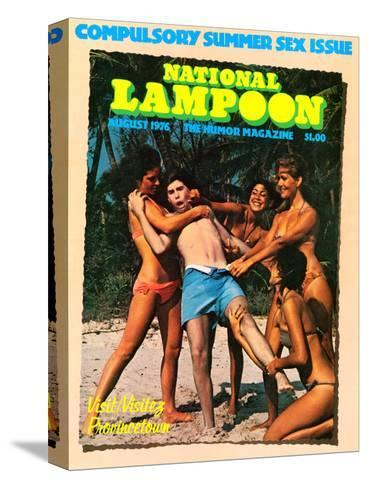 National Lampoon, August 1976 - Compulsory Summer Sex Issue--Stretched Canvas Print