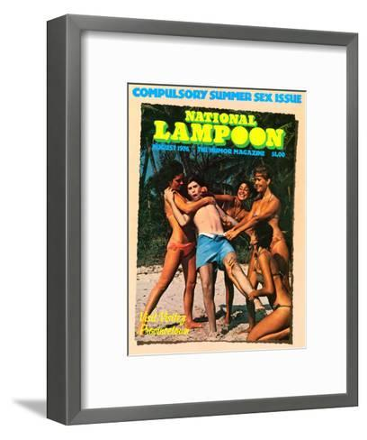 National Lampoon, August 1976 - Compulsory Summer Sex Issue--Framed Art Print