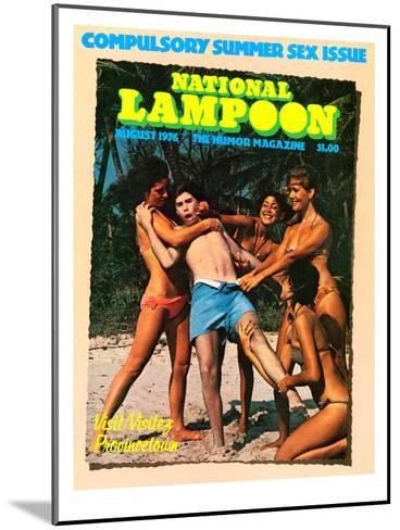 National Lampoon, August 1976 - Compulsory Summer Sex Issue--Mounted Art Print