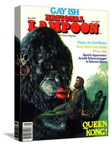 National Lampoon, May 1977 - Gay Ish, Queen Kong--Stretched Canvas Print