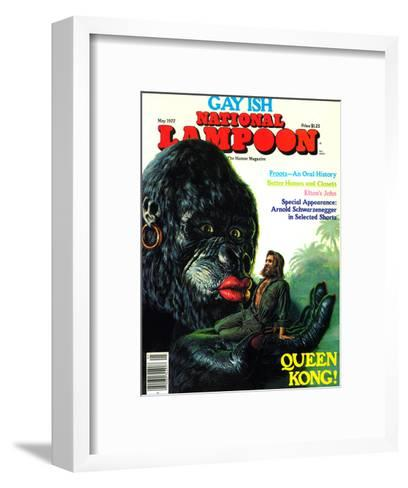 National Lampoon, May 1977 - Gay Ish, Queen Kong--Framed Art Print