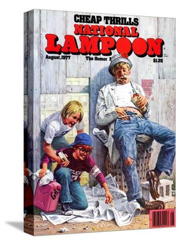 National Lampoon, August 1977 - Cheap Thrills--Stretched Canvas Print