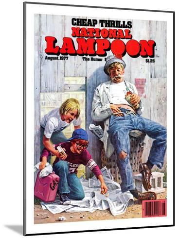 National Lampoon, August 1977 - Cheap Thrills--Mounted Art Print