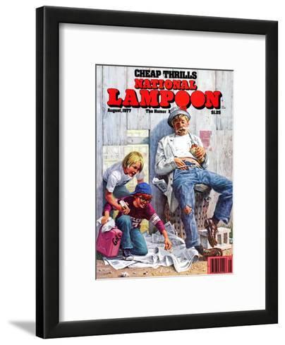 National Lampoon, August 1977 - Cheap Thrills--Framed Art Print