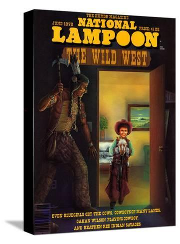 National Lampoon, June 1978 - The Wild West--Stretched Canvas Print