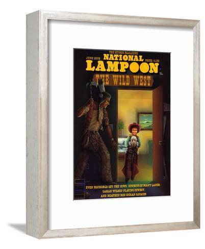 National Lampoon, June 1978 - The Wild West--Framed Art Print