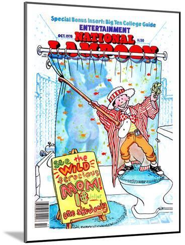 National Lampoon, October 1978 - Entertainment, Kid Shows Wild Ferocious Mom in Shower--Mounted Art Print