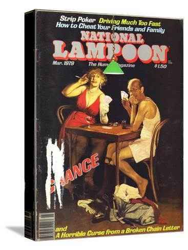 National Lampoon, March 1979 - Chance of Strip Poker--Stretched Canvas Print