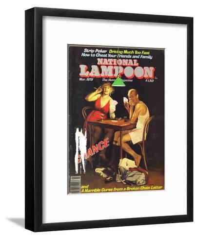 National Lampoon, March 1979 - Chance of Strip Poker--Framed Art Print
