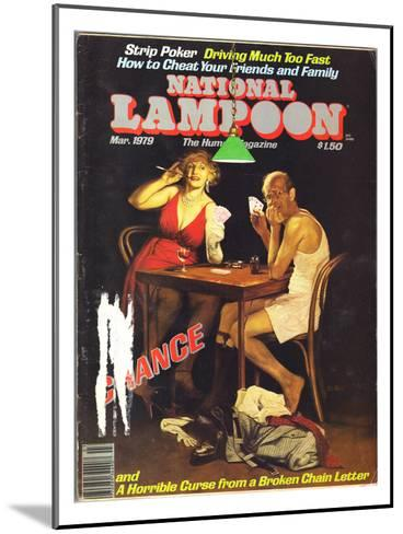 National Lampoon, March 1979 - Chance of Strip Poker--Mounted Art Print