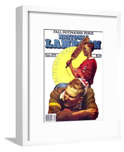 National Lampoon, September 1979 - Fall Potpourri Issue, Autumn Haze: The Paddle Initiation--Framed Art Print