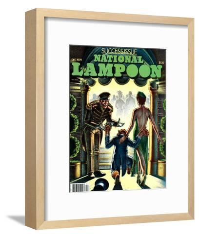 National Lampoon, December 1979 - Success Issue, Monkey with a Hot Date--Framed Art Print
