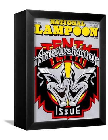 National Lampoon, February 1980 - 10th Anniversary Issue--Framed Canvas Print