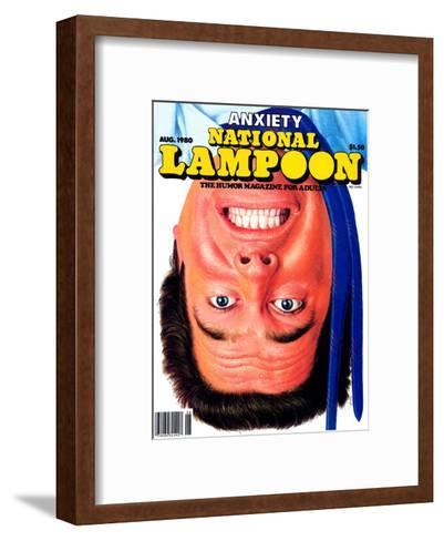 National Lampoon, August 1980 - Anxiety--Framed Art Print