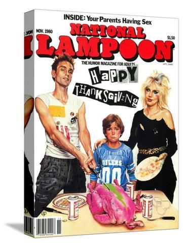 National Lampoon, November 1980 - Inside: Your Parents Having Sex, Punk Thanksgiving--Stretched Canvas Print