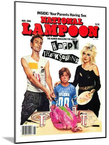 National Lampoon, November 1980 - Inside: Your Parents Having Sex, Punk Thanksgiving--Mounted Art Print