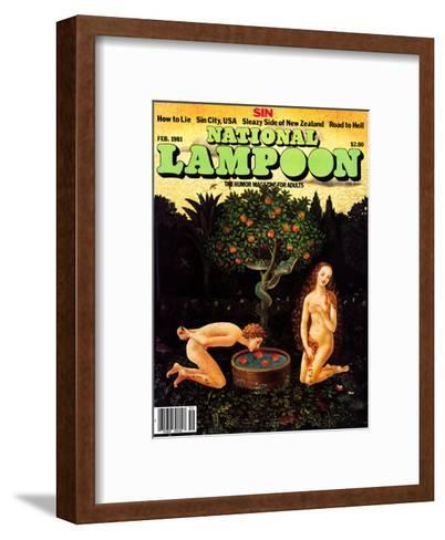 National Lampoon, February 1981 - Sin: Adam Bobs for Apples--Framed Art Print