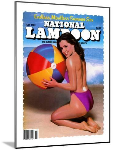 National Lampoon, July 1981 - Endless, Mindless Summer Sex with a Beach Babe on the Cover--Mounted Art Print