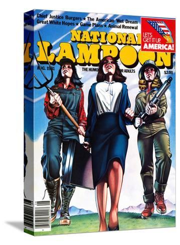 National Lampoon, August 1981 - The American Wet Dream: Women with Power--Stretched Canvas Print