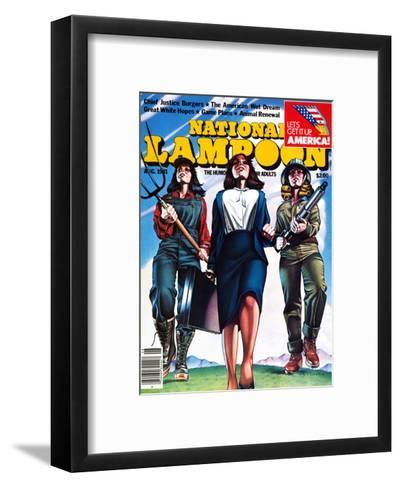 National Lampoon, August 1981 - The American Wet Dream: Women with Power--Framed Art Print