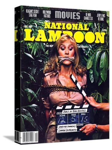 National Lampoon, October 1981 - Movies, Damsel in Distress Tied and Caught-Up in the Take 5--Stretched Canvas Print