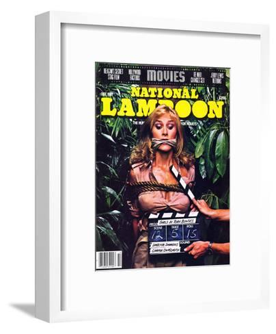 National Lampoon, October 1981 - Movies, Damsel in Distress Tied and Caught-Up in the Take 5--Framed Art Print