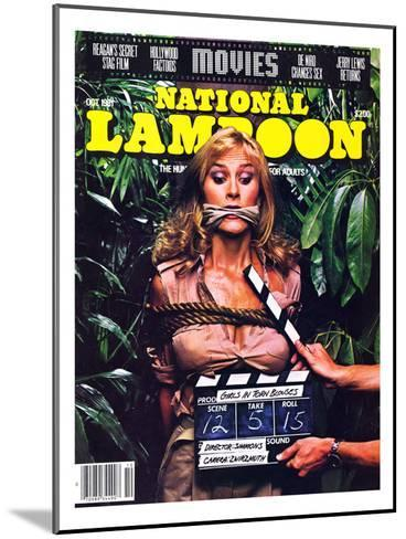 National Lampoon, October 1981 - Movies, Damsel in Distress Tied and Caught-Up in the Take 5--Mounted Art Print