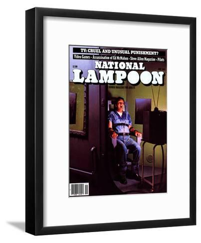 National Lampoon, November 1981 - TV: Cruel and Unusual Punishment?--Framed Art Print