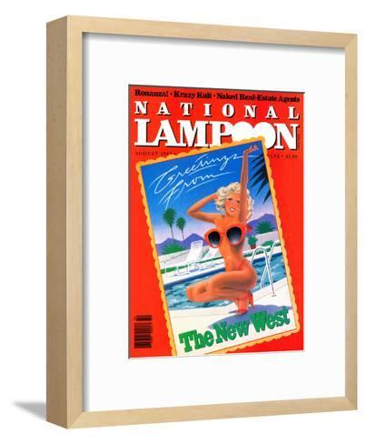 National Lampoon, August 1982 - Greetings From the New West--Framed Art Print
