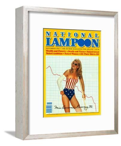 National Lampoon, November 1982 - Miss Economics Recovery '82--Framed Art Print