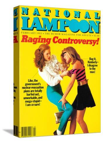 National Lampoon, February 1983 - Raging Controversy--Stretched Canvas Print