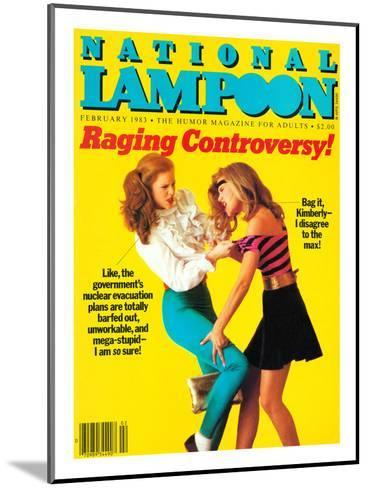 National Lampoon, February 1983 - Raging Controversy--Mounted Art Print
