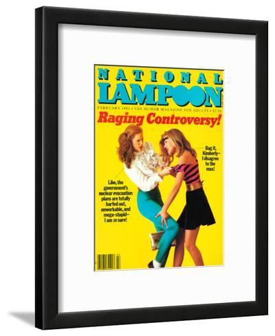 National Lampoon, February 1983 - Raging Controversy--Framed Art Print