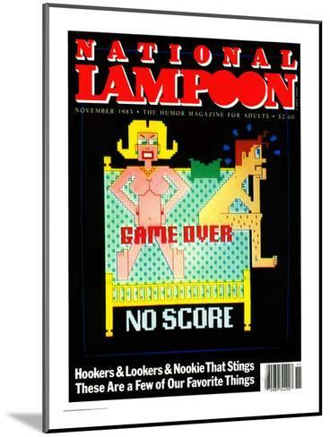 National Lampoon, November 1983  - Game Over No Score--Mounted Art Print