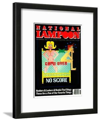 National Lampoon, November 1983  - Game Over No Score--Framed Art Print