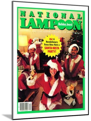 National Lampoon, December 1983 - Holiday Jeers! Have a Santa-Nista Party--Mounted Art Print