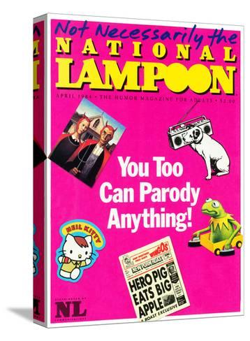 National Lampoon, April 1984 - You Too Can Parody Anything--Stretched Canvas Print