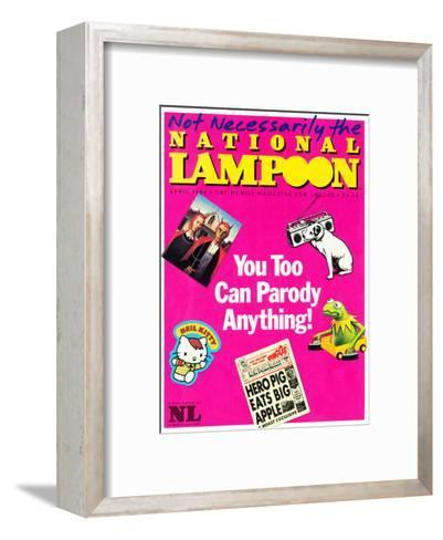 National Lampoon, April 1984 - You Too Can Parody Anything--Framed Art Print