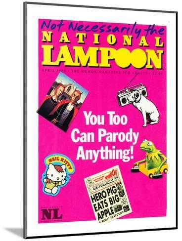 National Lampoon, April 1984 - You Too Can Parody Anything--Mounted Art Print