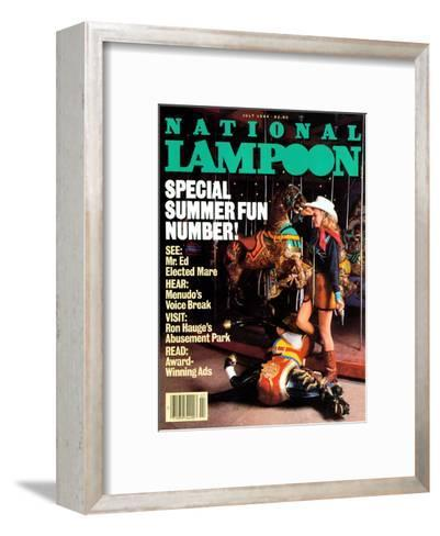 National Lampoon, July 1984 - Special Summer Fun Number!--Framed Art Print
