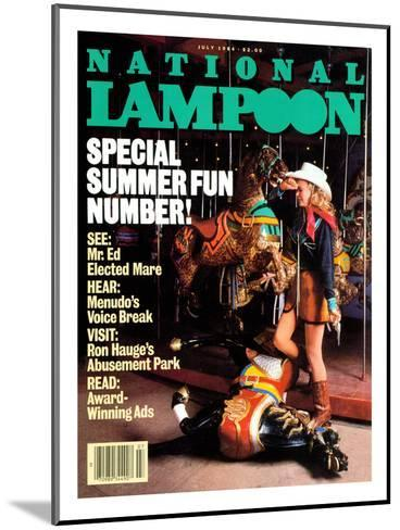 National Lampoon, July 1984 - Special Summer Fun Number!--Mounted Art Print