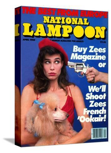 National Lampoon, April 1985 - The Best From Euope--Stretched Canvas Print