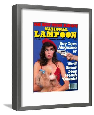 National Lampoon, April 1985 - The Best From Euope--Framed Art Print